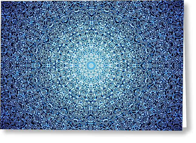 Dark Blue Quasicrystal Greeting Card by Dan Gries