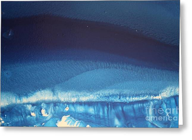 Dark Blue Stream Greeting Card