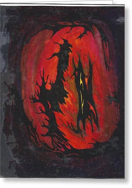 Dark Greeting Card by Cim Paddock