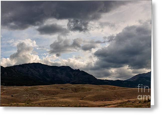 Dark Clouds On The Horizon Greeting Card by Charles Kozierok