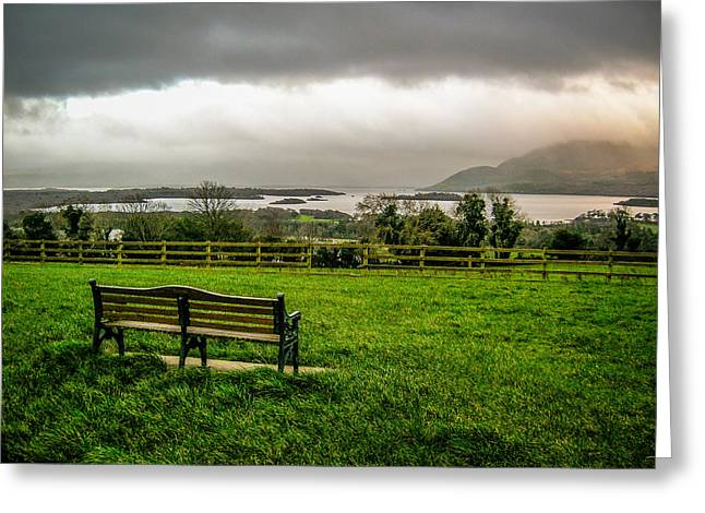 Dark Clouds Over Killarney Lakes Greeting Card