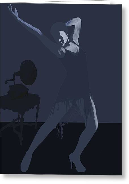 Dark Dancer Greeting Card by Stacy Parker