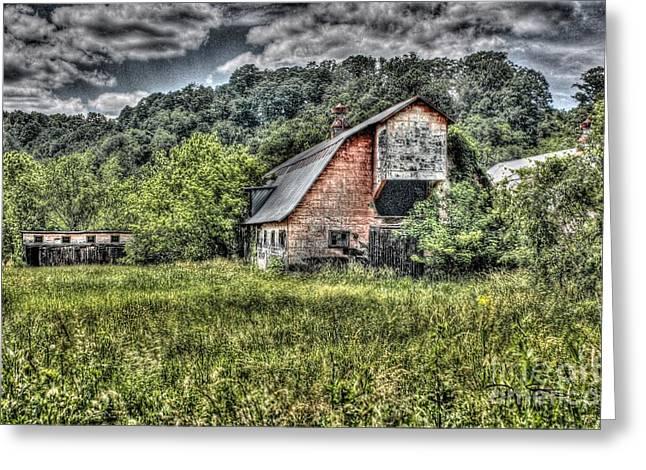 Dark Days For The Farm Greeting Card by Dan Stone