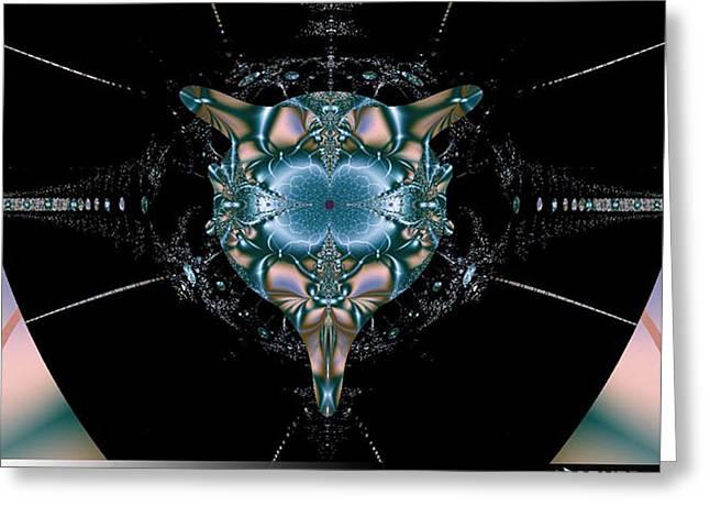 Greeting Card featuring the digital art Dark Fractal II by A Dx