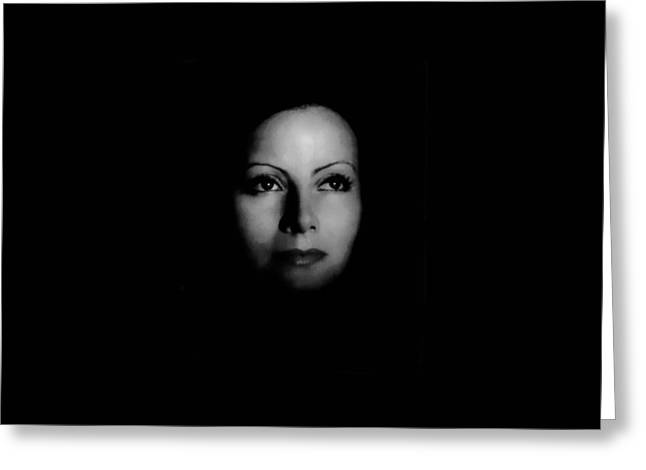 Dark Garbo Greeting Card