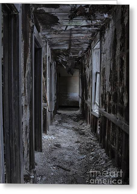 Dark Halls Greeting Card by Margie Hurwich