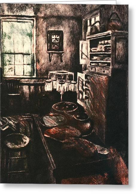 Dark Kitchen Greeting Card
