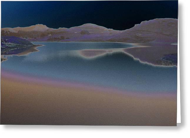 Dark Lake Greeting Card