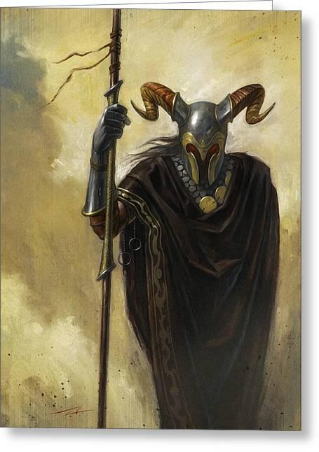 Dark Mage Greeting Card by Alan Lathwell