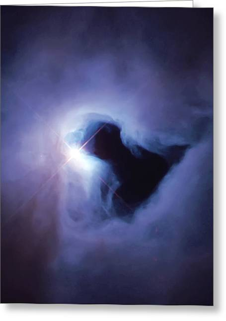 Dark Nebula Cloud  Greeting Card by Jennifer Rondinelli Reilly - Fine Art Photography