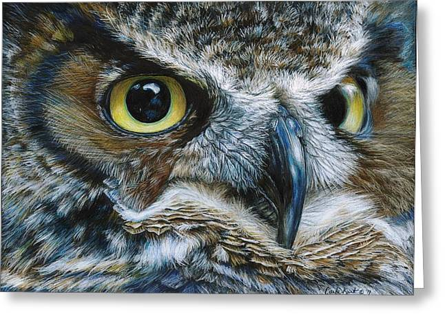 Dark Owl Greeting Card