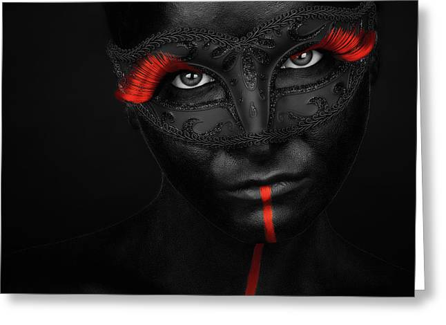 Dark Passion Greeting Card