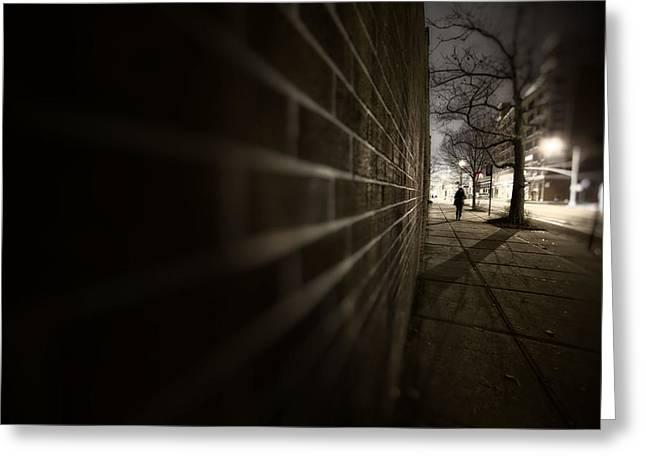 Dark Road Greeting Card by Emmanouil Klimis