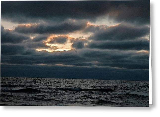Dark Sea Greeting Card by Allen Carroll