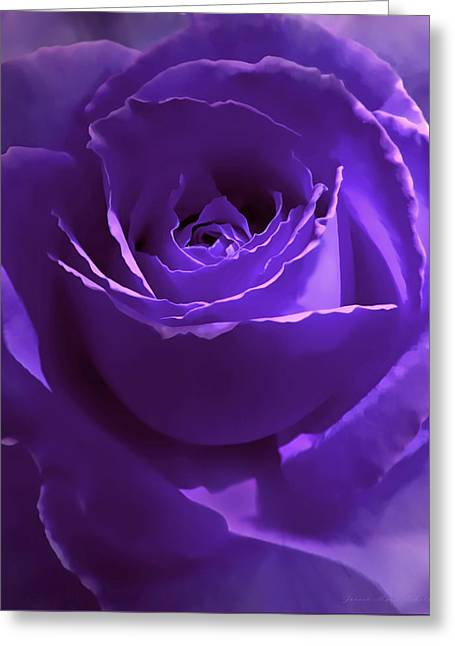 Dark Secrets Purple Rose Greeting Card