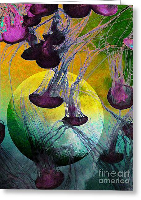 Dark Side Of The Moon 5d24939 Painterly M111 Greeting Card