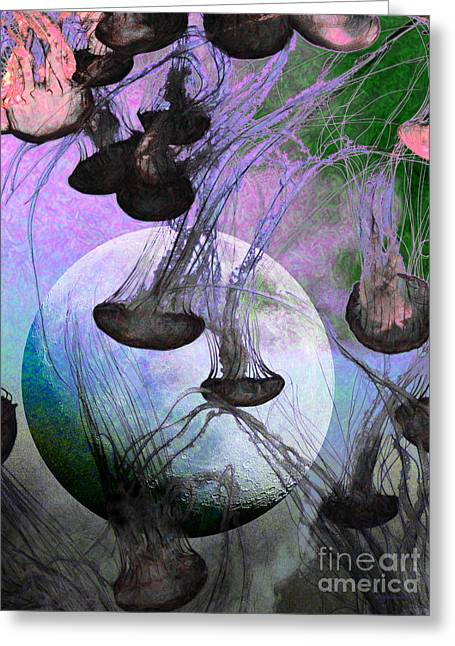 Dark Side Of The Moon 5d24939 Painterly P180 Greeting Card