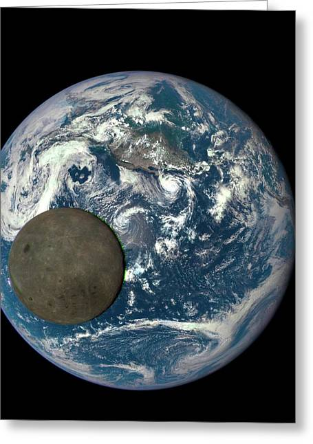 Dark Side Of The Moon Greeting Card by Nasa/ Dscovr Epic Team