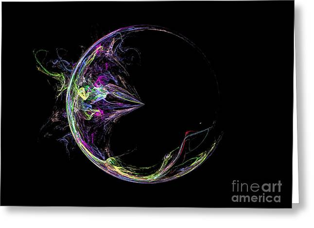 Dark Side Of The Moon Greeting Card by Terry Weaver