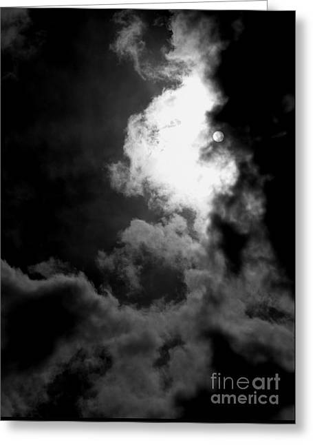 Dark Side Of The Sun Greeting Card by Vicki Spindler