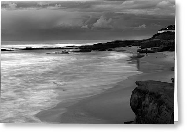 Dark Skies - Bright Seas Greeting Card by Peter Tellone