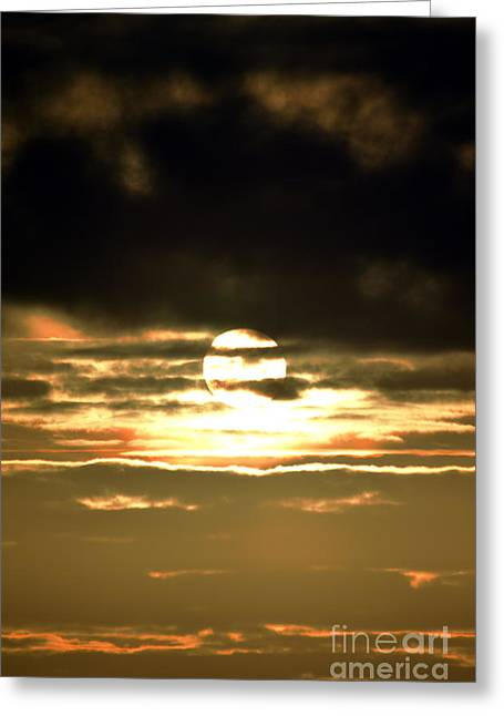 Dark Skys Greeting Card by Sheldon Blackwell