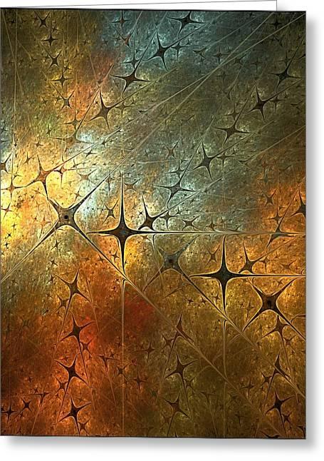Dark Star Grid Greeting Card