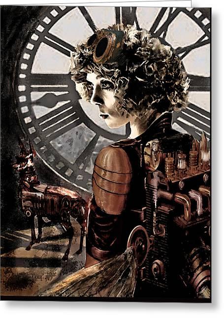 Dark Steampunk Greeting Card by Jane Schnetlage