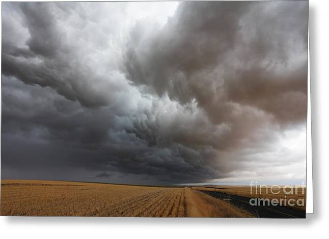 Dark Storm Clouds Greeting Card by Boon Mee