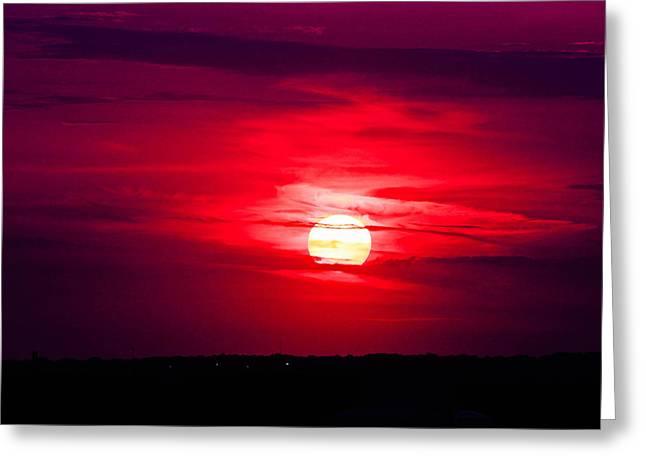 Dark Sunset Greeting Card by Julie Andel