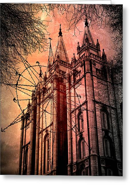 Greeting Card featuring the photograph Dark Temple by Jim Hill