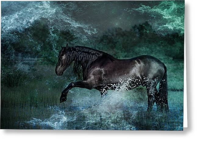 Dark Water Greeting Card by Pamela Hagedoorn