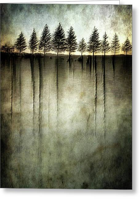 Dark Water Stands Over Me Greeting Card