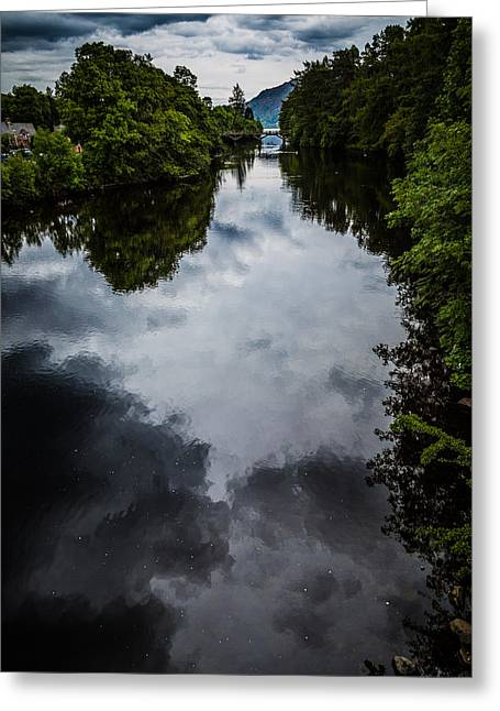 Dark Waters Of Loch Ness Greeting Card by Matthew Onheiber
