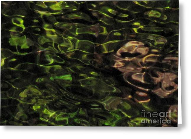 Dark Watery Green Greeting Card