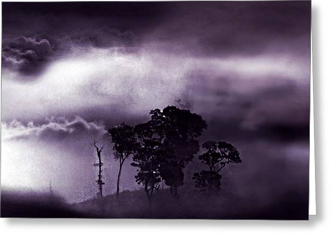 Dark World Greeting Card by Persephone Artworks