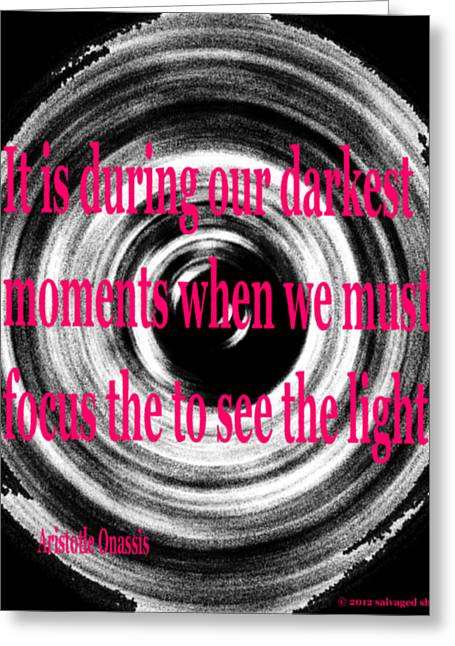 Darkest Moments Greeting Card by Josephine Ring