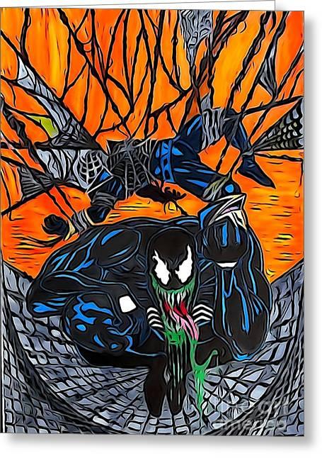 Darkhawk Illustration Color Greeting Card
