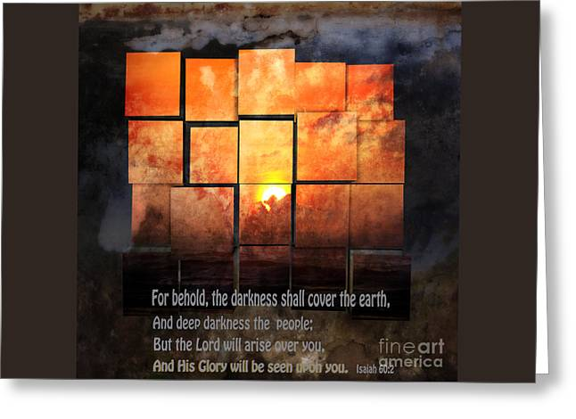 Darkness Covers The Earth Greeting Card by Beverly Guilliams