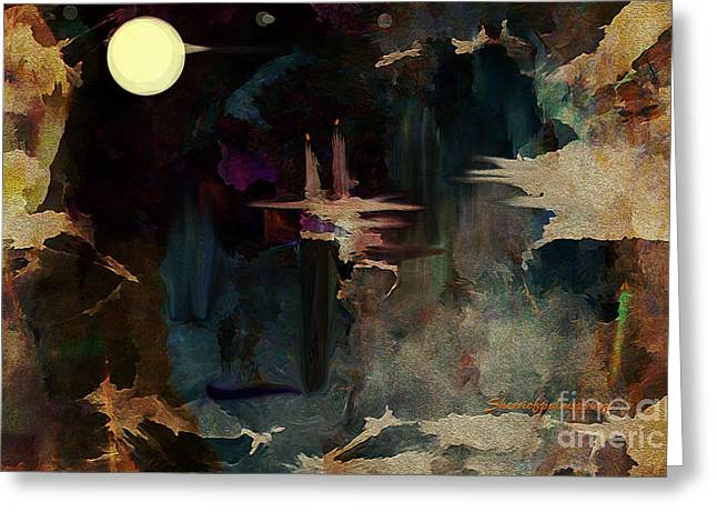Darkness In The Old City Greeting Card by Sherri  Of Palm Springs