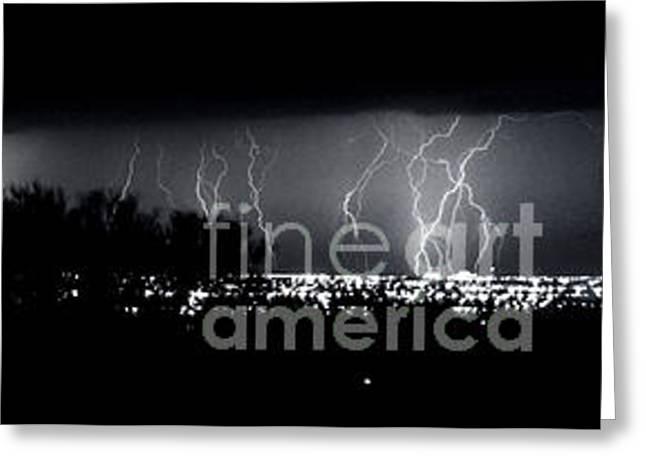 Greeting Card featuring the photograph Darkness Symphony-15x72-signed by J L Woody Wooden
