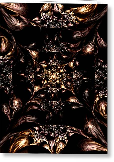Greeting Card featuring the digital art Darkness Will Come by Lea Wiggins