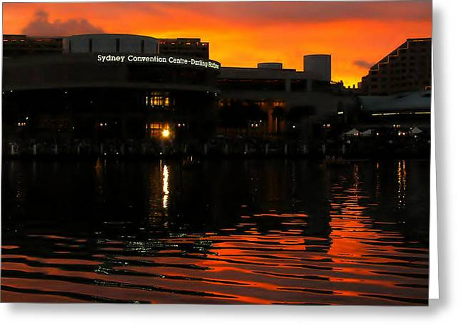 Darling Harbour Evening Greeting Card