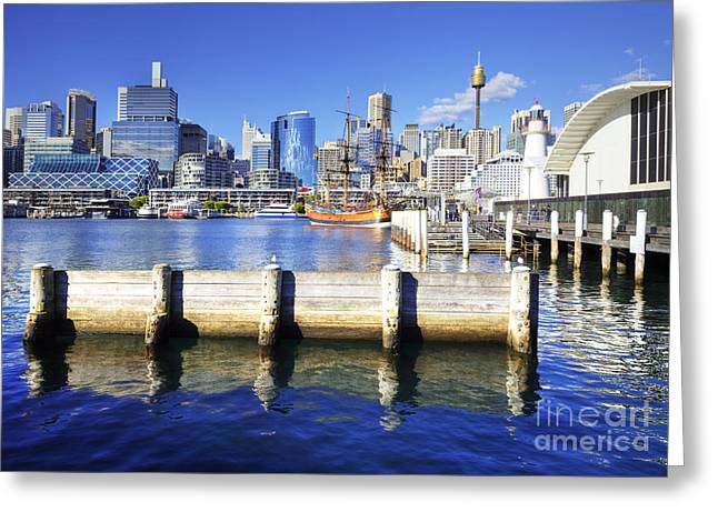 Darling Harbour Sydney Australia Greeting Card by Colin and Linda McKie