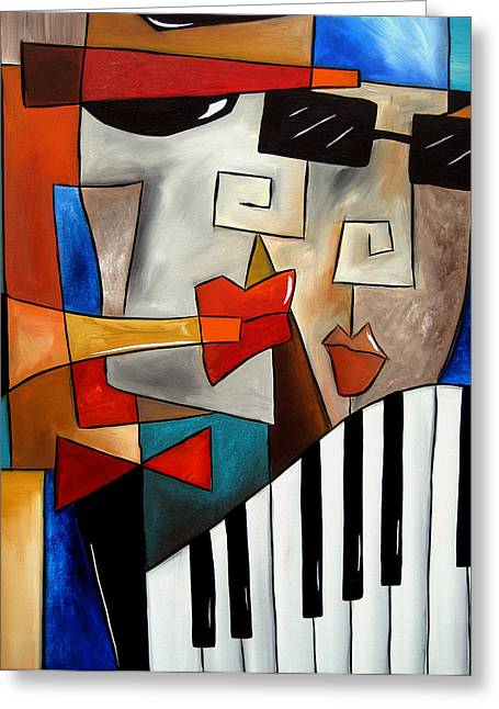 Darned Tootin - Original Cubist Art By Fidostudio Greeting Card by Tom Fedro - Fidostudio