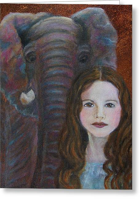 Darra  Little Angel Of                                    Feminine Wisdom And Understanding Greeting Card by The Art With A Heart By Charlotte Phillips