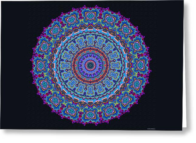 Darren's Mandala Greeting Card by Joy McKenzie
