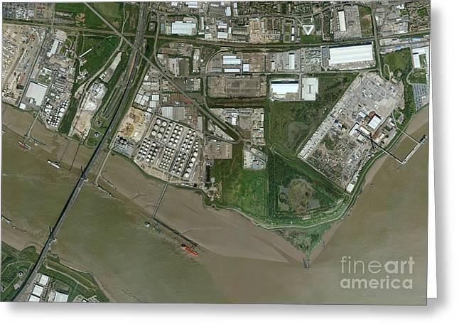 Dartford, Aerial Photograph Greeting Card