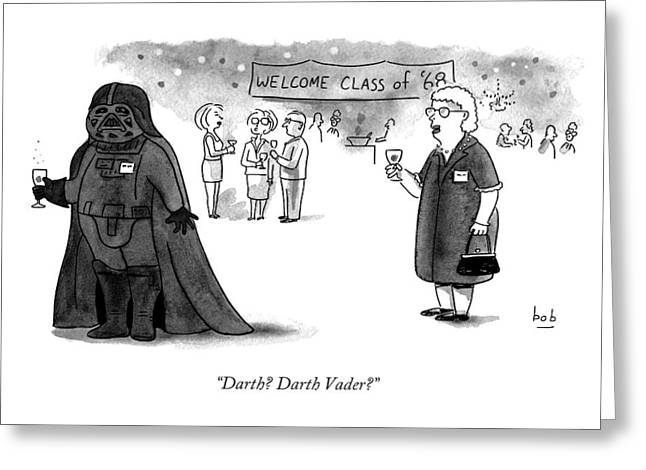Darth? Darth Vader? Greeting Card