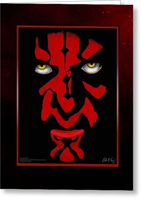 Darth Maul Greeting Card